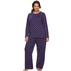 Plus Size Croft & Barrow® Pajamas: Textured Knit Henley & Pants PJ Set