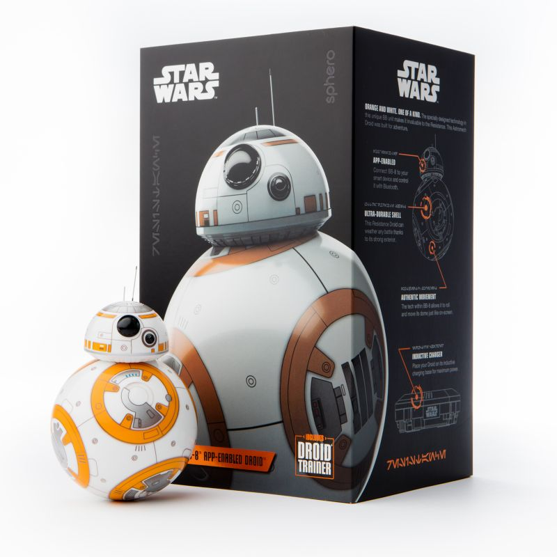 Star Wars: Episode Viii The Last Jedi BB-8 App-Enabled Droid with Trainer by Sphero, Multicolor