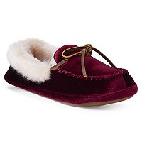 Women's Chaps Velvet Moccasin Slippers