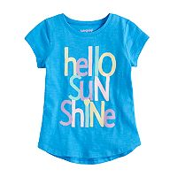 Girls 4-10 Jumping Beans® Hi Low Rounded Graphic Tee