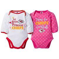 Baby Girl Kansas City Chiefs 2-Pack Football Bodysuit Set