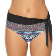 Women's Aqua Couture Paisley Sash Hipster Bikini Bottoms