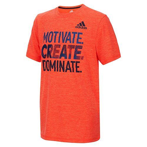 "Boys 8-20 adidas ""Motivate. Create. Dominate."" Graphic Tee"