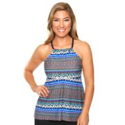 Women's Aqua Couture Waist Minimizer Tribal Tankini Top