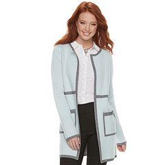 Women's ELLE™ Contrasting Trim Cardigan