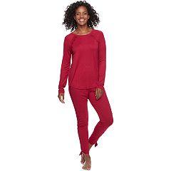 Women's Apt. 9® Pajamas: Lace Trim Track Set