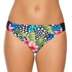 Women's Aqua Couture Tropical Hipster Bikini Bottoms