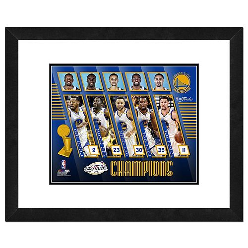 Golden State Warriors 2017 NBA Champions Composite Framed Photo