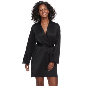 Women's Apt. 9® Pajamas: Satin Wrap Robe