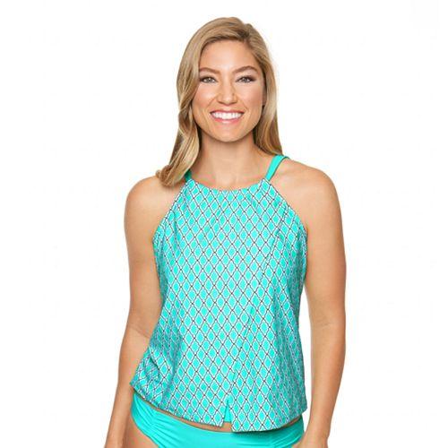 Women's Aqua Couture Waist Minimizer Moroccan Geometric Tankini Top