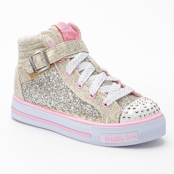 Aproximación gloria Cabecear  Skechers Twinkle Toes Shuffles Girls' High-Top Light Up Sneakers