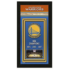 Golden State Warriors 2017 NBA Championship Banner Framed Photo