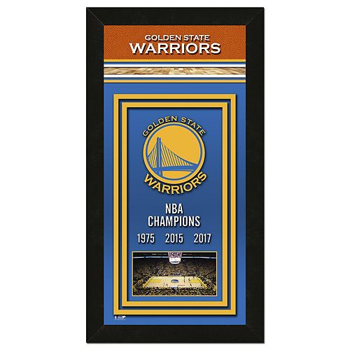 Golden State Warriors 2017 NBA Championship Banner Framed Photo