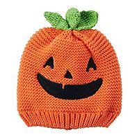 Baby Carter's Halloween Knit Jack-O-Lantern Beanie Hat