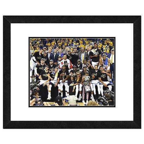 Golden State Warriors 2017 NBA Championship Team Celebration Framed Photo