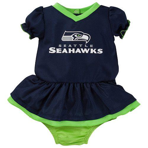 Baby Seattle Seahawks Dazzle Dress Set