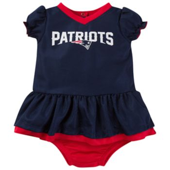 Baby New England Patriots Dazzle Dress Set