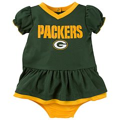 Baby Green Bay Packers Dazzle Dress Set