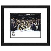 Pittsburgh Penguins 2017 Stanley Cup Team Celebration on Ice Framed Photo