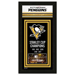 Pittsburgh Penguins 2017 Stanley Cup Championship Banner Framed Photo