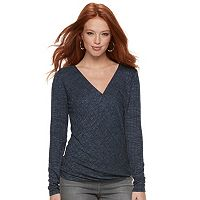 Women's Rock & Republic® Ribbed Twist Top