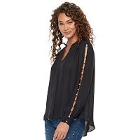 Women's Jennifer Lopez Embellished Chiffon Blouse