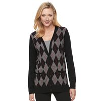 Women's Croft & Barrow® V-Neck Button-Down Cardigan