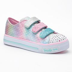 Skechers Twinkle Toes Shuffles Mermaid Girls' Light Up Sneakers