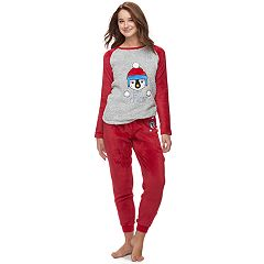 Juniors' Peace, Love & Fashion Pajamas: Get Cozy Fleece 2-Piece PJ Set