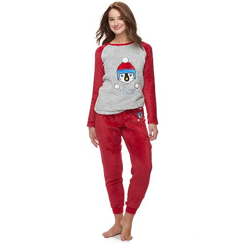 Juniors' Peace, Love & Fashion Pajamas: Get Cozy Fleece 2-Piece PJ Set