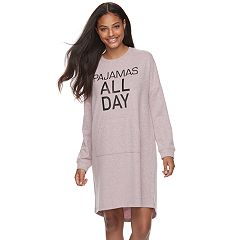 Juniors' Peace, Love & Fashion Pajamas: Knit Long Sleeve Sleep Shirt