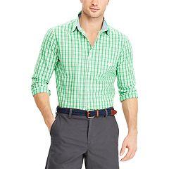 Big & Tall Chaps Easy Care Stretch Plaid Shirt
