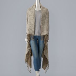 Simply Vera Vera Wang Two Tone Reversible Long Vest