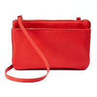 Apt. 9® Baxter RFID-Blocking Double Entry Crossbody Bag