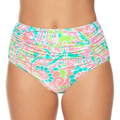 Women's Aqua Couture Paisley High-Waisted Bikini Bottoms