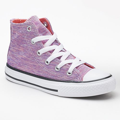 d6f1ef4a0158 Girls  Converse Chuck Taylor All Star Jersey Knit High-Top Sneakers