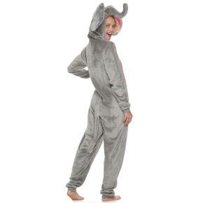 Juniors' Peace, Love & Fashion Elephant Costume One-Piece Pajamas