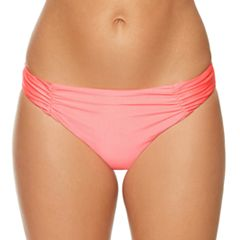 Women's Aqua Couture Shirred Hipster Bikini Bottoms