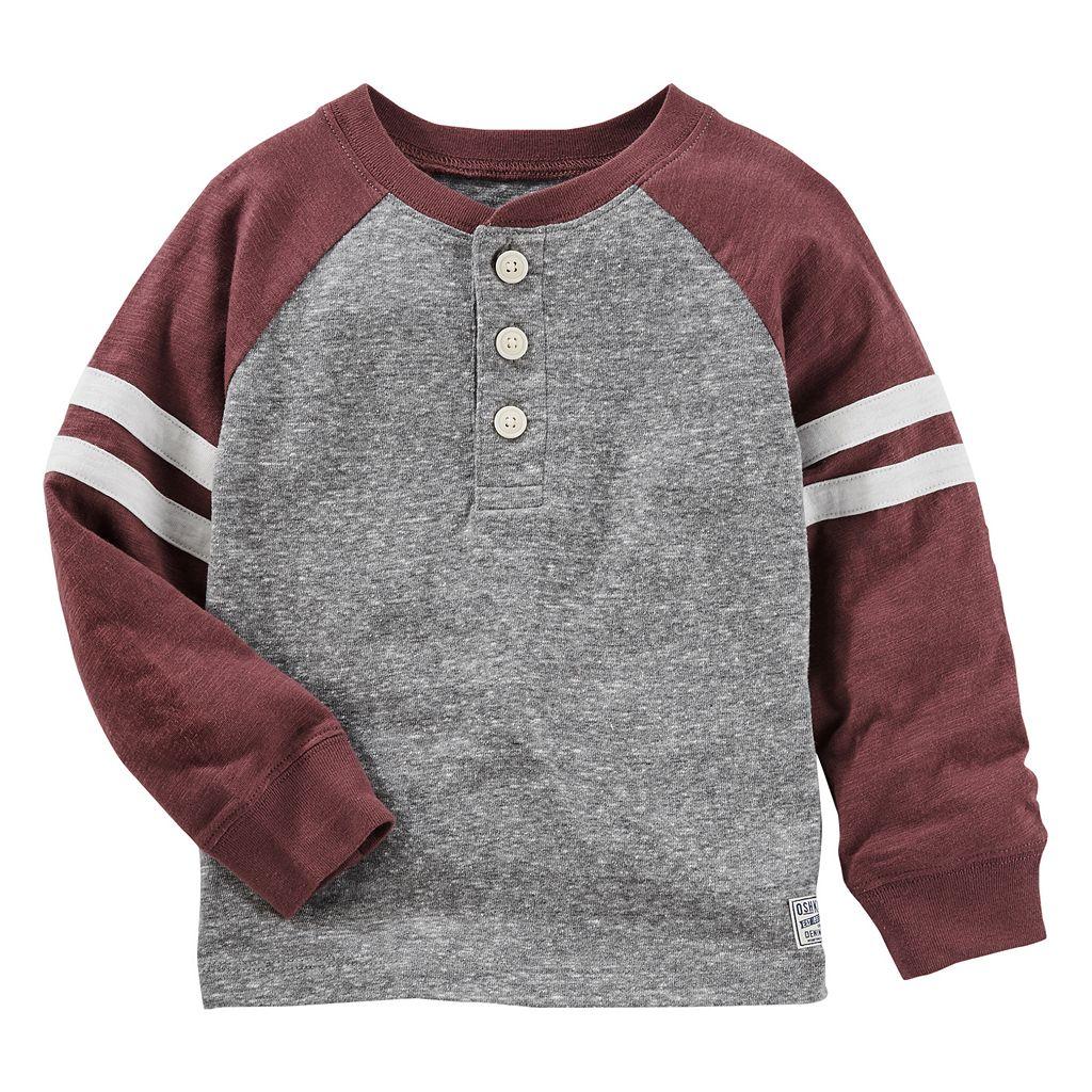 Toddler Boy OshKosh B'gosh® Striped & Slubbed Henley