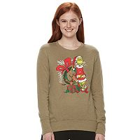 Juniors' Dr. Seuss Grinch Long Sleeve Sweatshirt