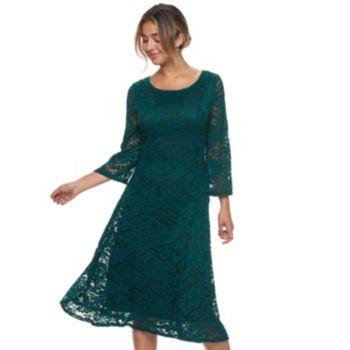 Women's Ronni Nicole Lace A-Line Midi Dress
