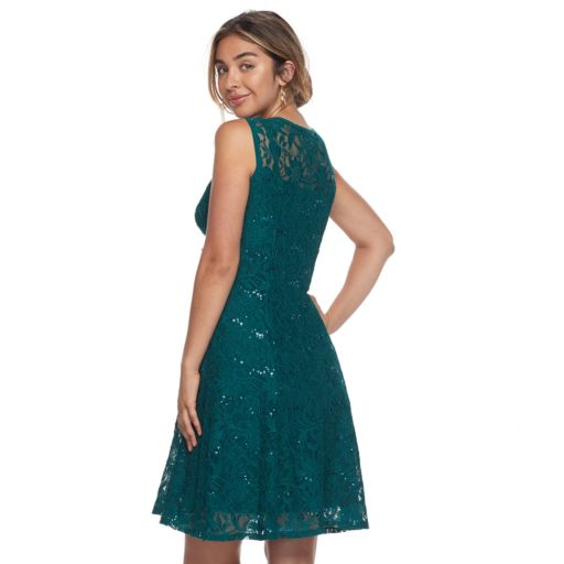 Women's Ronni Nicole Sequin Lace Fit & Flare Dress
