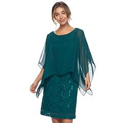 Women's Ronni Nicole Sequin Lace Popover Dress