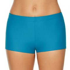 Women's Aqua Couture Solid Boyshort Swim Bottoms