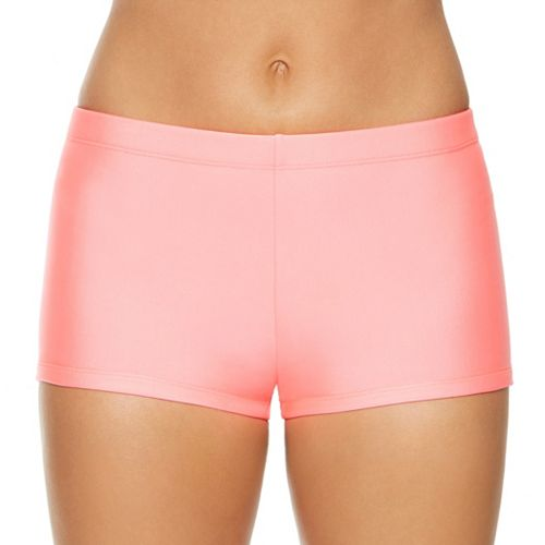 8d98bfef2cf48 Women s Aqua Couture Solid Boyshort Swim Bottoms