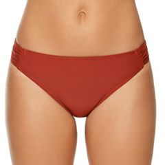 Women's Aqua Couture Shirred-Side Hipster Bikini Bottoms