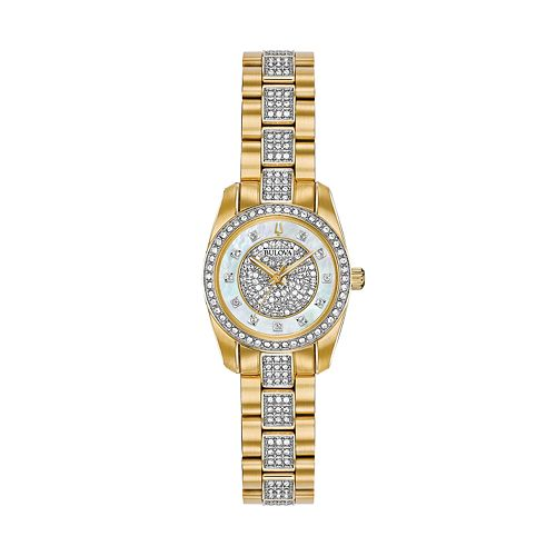Bulova Women's Crystal Pave Stainless Steel Watch - 98L241