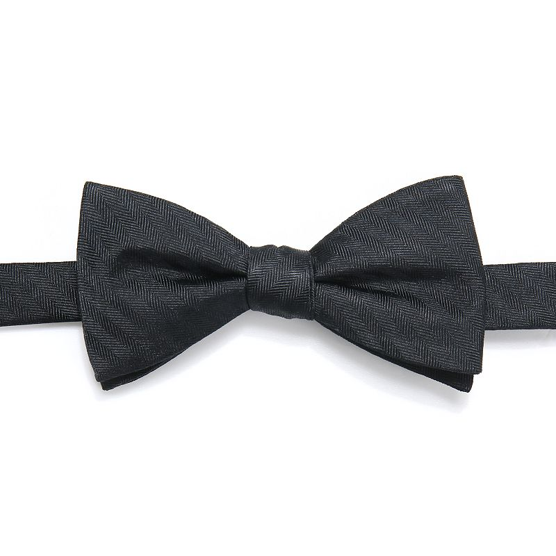 Men's Chaps Patterned Pre-Tied Bow Tie, Black