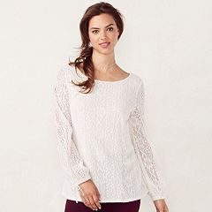 Women's LC Lauren Conrad Fairisle Lace Top