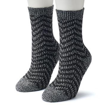 Women's Columbia 2-pk. Zig Zag Striped Crew Socks